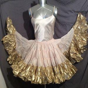 Rhythm Creations Million Dollar Petticoat Gold